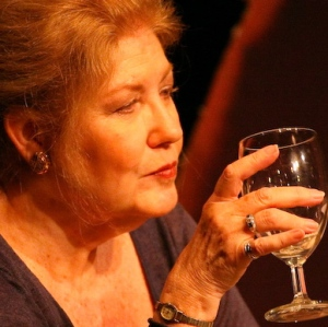Carol Mayo Jenkins in Collected Stories at Cinnabar Theater, photo by Eric Chazankin